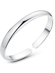 Alloy Silver Cuff Bangle Bracelet