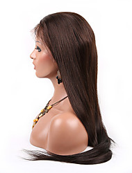 7A Virgin Hair Lace Front Wig Brazilian Remy Human Hair Straight Hair Wigs For African Americans 130% Density