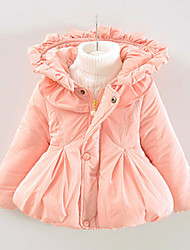 FanXingBeiYiGirl's Casual/Daily Solid Down & Cotton Padded,Polyester Winter Blue / Pink