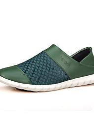 Serene® Men's Cowhide Loafers / Slip-on Green-9110