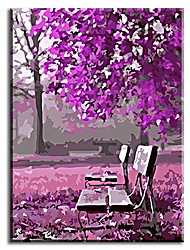 Hand Painted Oil Painting Home Decor For Living Room Romantic Park with Stretched Frame Ready to Hang