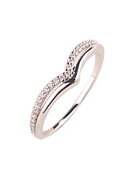 The new simple temperament lady ring copper material inlaid zircon ring rose gold platinum