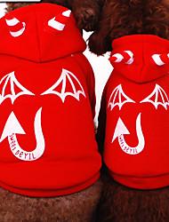 Chat / Chien Costume / Pulls à capuche / Combinaison-pantalon Rouge / Noir Hiver / Printemps/Automne Ange et Diable Cosplay / Halloween,