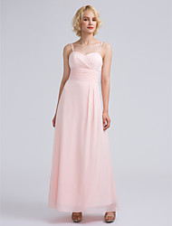 Ankle-length Sweetheart Bridesmaid Dress - Elegant Sleeveless Chiffon