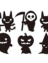 aw9432 Halloween Stickers Glass Window Stickers Wall Stickers Halloween   Home Decor Witch Stickers