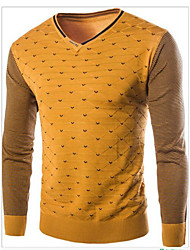 Men's Polka Dot Pullover,Cashmere Long Sleeve