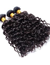 3pcs Brazilian Hair Bundles Weaves Natural Black Deep Curl Hair Weft 100% Unprocessed Brazilian Human Hair Weft