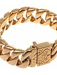 kalen®Vente en gros design de mode en acier inoxydable 316L bracelets de la chaîne de la main d'or bijoux pour hommes à la mode