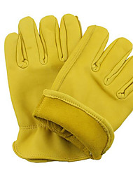 Yellow Sheepskin Driving Gloves Protective Driver Architecture Handling Wear Gloves