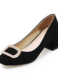 Women's Shoes Fleece Spring / Summer / Fall Heels Heels Wedding / Party & Evening / Dress / Casual Chunky Heel