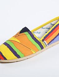 Women's Flats Spring / Summer / Fall Comfort Canvas Casual Flat Heel Multi-color Walking