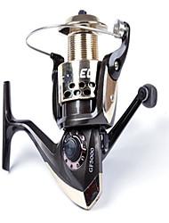 Molinetes Rotativos 5.2/1 3 Rolamentos Trocável Isco de Arremesso / Pesca Geral-GF5000 LEO