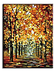 Hand Painted Oil Painting decorative maple with Stretched Frame Ready to Hang