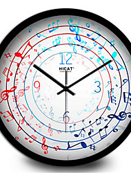 Creative Home Blue Notes Music Room Decorative Silent Quartz Wall Clock