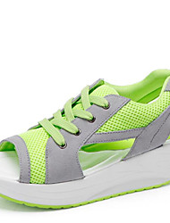 Women's Fitness & Athletic Sandals Synthetic Wedge Heel Blue / Green /Fuchsia