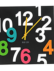 Plastic Mute Wall Clock for Home Decoration