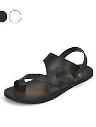 Serene® Men's Microfibre Sandals Black / White-2156