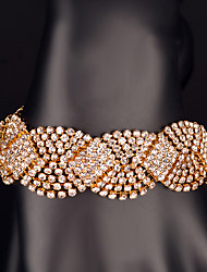 Women's Chain Bracelet Gold Rhinestone