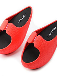 Women's Sandals Summer Rubber Others Black Red Peach Walking