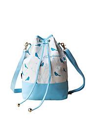 Fleur Princess® Femme Toile Sac à Bandoulière Bleu-1407TX001