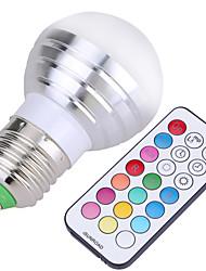 5W E26/E27 Ampoules Globe LED A50 4 SMD 300-450 lm Blanc Froid RVB Décorative Gradable Commandée à DistanceAC 110-130 AC 85-265 AC