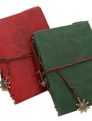 Creative Leather Imitation Loose-leaf Notebook(Random Colors)