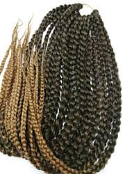 24'' Synthetic 3X Box Braids hair two tone burgundy havana mambo twist hair crochet braid hair Kanekalon Braiding Hair