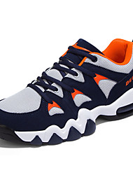 Men's Shoes Tulle Casual Sneakers / Clogs & Mules Casual Indoor Court Flat Heel Others / Lace-up Blue / Gray / Black