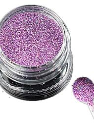 1 Bottle Nail Art Laser Charming Light Purple Glitter Shining Powder Manicure Makeup Decoration Nail Beauty L13