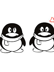 Fashion The Little Penguin Pattern PVC Bathroom or Bedroom or Glass Wall Sticker Home Decor
