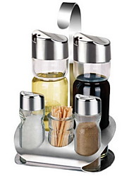 Stainless Steel / Glass Shaker & Mill Set