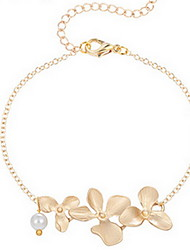 Kiming Korean Seweet Gold/Silver Flower Chain Tiny Bracelet Jewelry