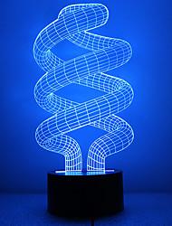 bulbo incrível forma levou luz noite 3d com 7 cores lndoor iluminação