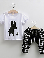 The New Children'S Cartoon Suit Influx Of Goods Children'S Clothing Boys And Girls Two-Piece Short-Sleeved Pants