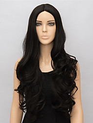 Black Long Synthetic Wigs Curly New Fashion Heat Resistant Synthetic Women Party Wigs