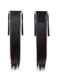 New Ponytail Hairpieces 22inch 55cm Long Straight High Temperature Hair #2 Natural Black Synthetic Ponytail