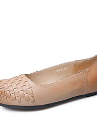 Women's Flats Summer Comfort PU Casual Flat Heel Others Almond