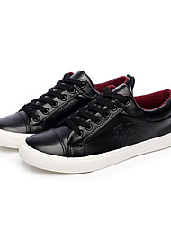 Men's Shoes PU Athletic Sneakers Athletic Sneaker Low Heel Lace-up Black