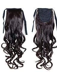 Ponytail Hairpieces 22inch 55cm Long Wavy High-temperature Wire Bundles #2 Synthetic Ponytail Hair Extensions