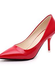 женская обувь пу шпильках пятки острым носом пятки партии& вечер черный / розовый / красный / белый / серебро
