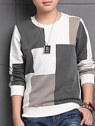 Casual/Dagelijks-Kleurenblok-Katoen-Lente / Herfst-Boy's-T-shirt-Wit