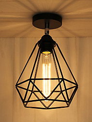 Vintage Loft Ceiling Lamp Light Direction Adjustable Wrought Iron Birdcage Flush Mount Entry Hallway Kitchen lights