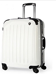 Unisex PVC Outdoor Luggage White