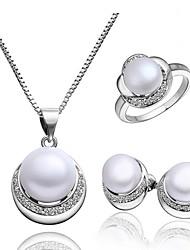 Schmuck Halsketten / Ohrringe / Ringe Braut-Schmuck-Sets Modisch Party 1 Set Damen Silber Hochzeitsgeschenke