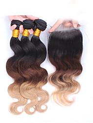 Âmbar Cabelo Eurásio Onda de Corpo tece cabelo