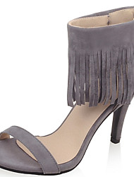 Women's Shoes Stiletto Heel Open Toe Tassel Sandal with Back Zip More Color Available