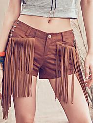 Aporia.As® Dames Medium taille Shorts Beige Vrijetijdsschoenen Broek-MZ23001