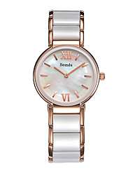 Semdu® Fashion Ceramic Women Japanese Quartz Water Resistant Calendar Vintage Business Wristwatch