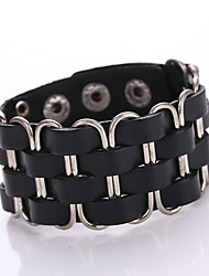 New fashion Leather Bracelet With Restoring Ancient Ways Personality Punk Alloy Bracelet With Genuine Leather