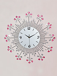 Modern Style Fashion Diamond Mute Wall Clock